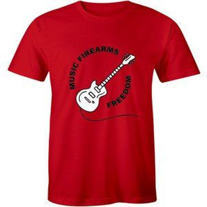 Music Firearms Freedom Funny Guitar Lover T-shirt